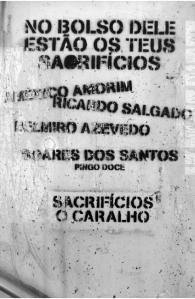 Do ensaio do investigador Ricardo Campos que acompanha os graffitis de Lisboa. Revista Análise Social.