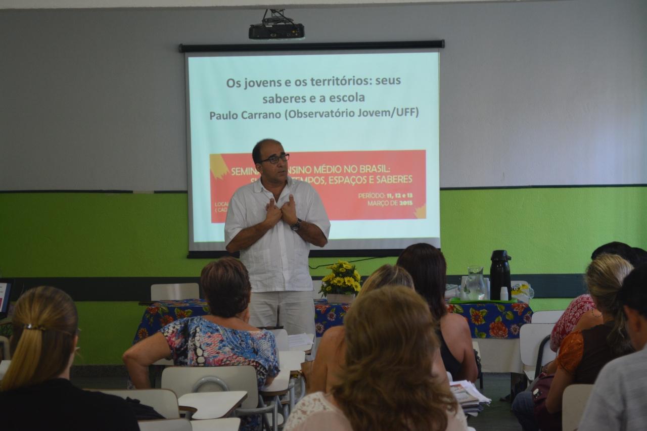 Diálogo com professores/as da Escola Estadual Guilherme Briggs –Niterói