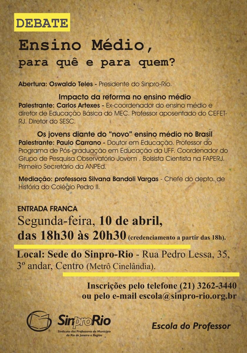 ensino medio - debate - 10 de abril