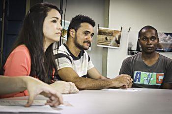 """Bastidores do filme """"Jovens Fora de Serie"""", UERJ, Rio de janeiro, Brasil."""