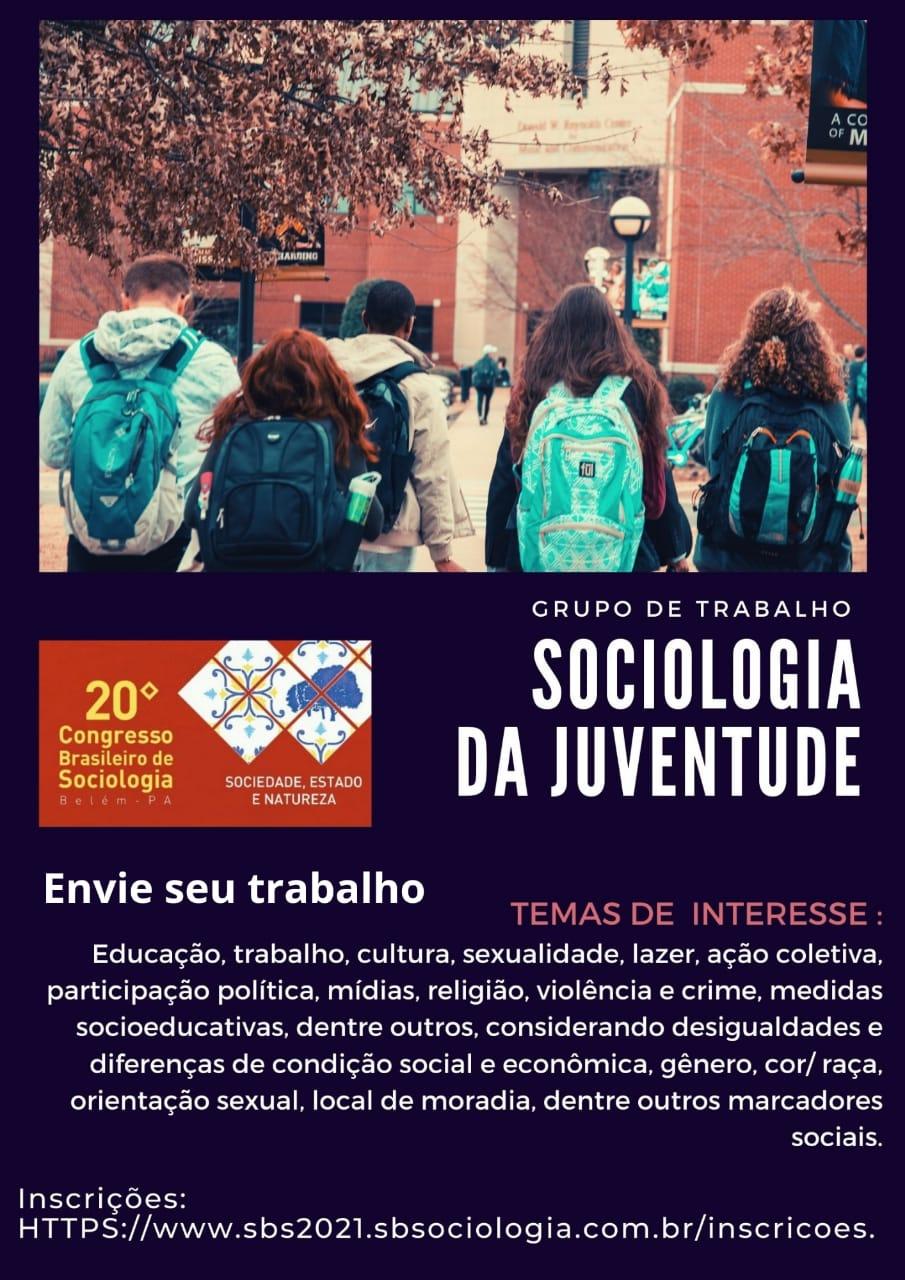 GT Sociologia da Juventude naSBS