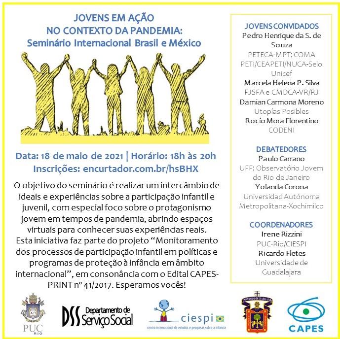 Jovens em ação no contexto da pandemia – Seminário InternacionalBrasil-México