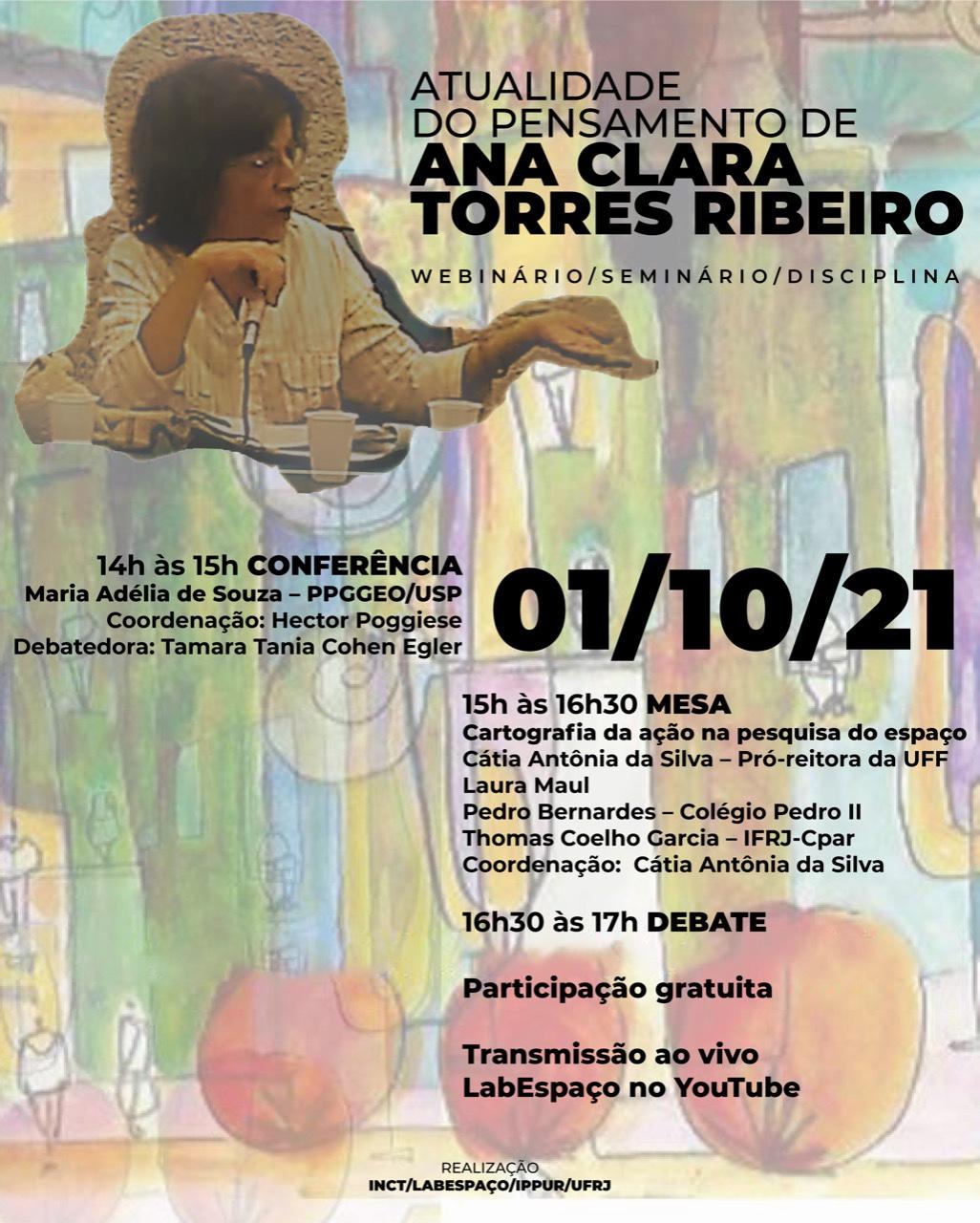 Atualidade do pensamento de Ana Clara TorresRibeiro